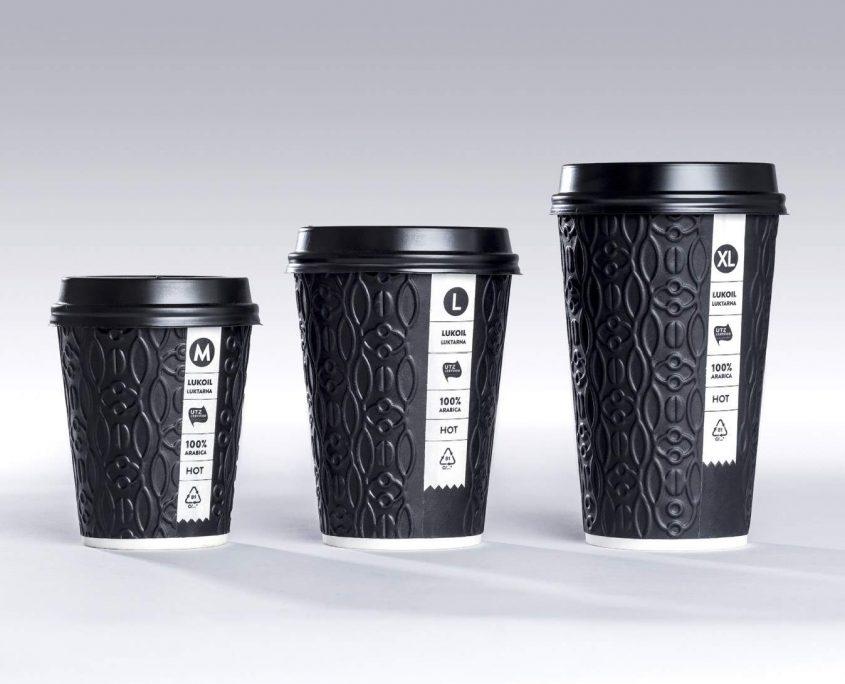 Vienkartiniai 3D puodeliai, Lukoil kavai