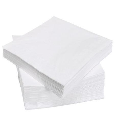 Baltos dvisluoksnės servetėlės