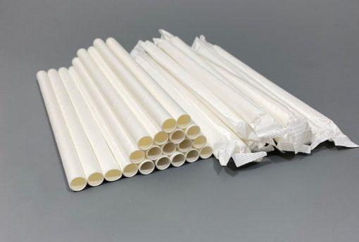200x10mm balti supakuoti šiaudeliai