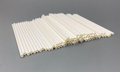 200x6mm balti šiaudeliai