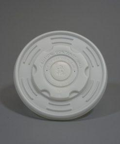 Ekologiški, kompostuojami dangteliai indeliui sriubai 16oz/480 ml