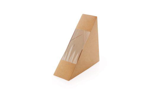Dėžutė kartoninė sumuštiniui 130x130x50 mm